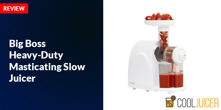 Big Boss Masticating Juicer Review : Big Boss Heavy-Duty Masticating Slow Juicer Review